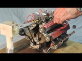 Мини мотор V8 с крутым звуком!