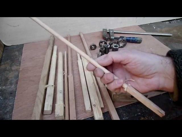 Как сделать идеально круглые деревянные палочки трех размеров