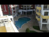 Pool view furnished 1-bedroom apartment for sale downtown Sunny beach Bulgaria