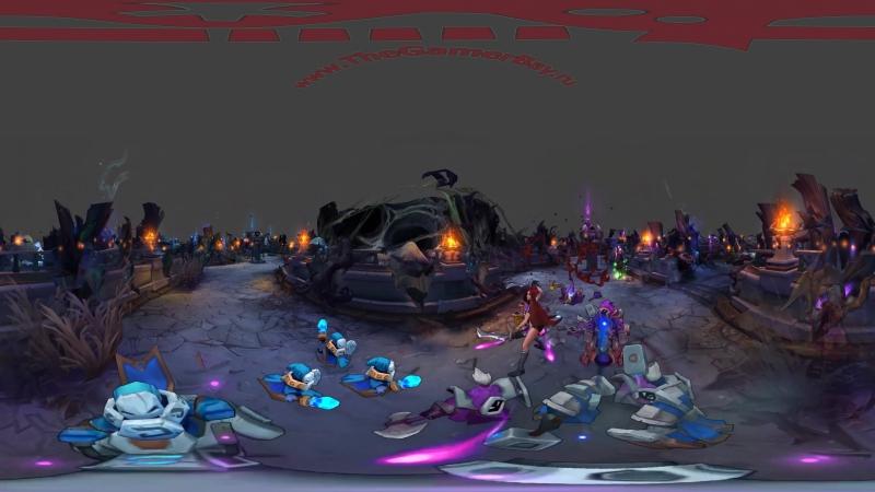 360° Video - Heartseeker Ashe in Twisted Treeline, League of Legends