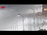 Зимний дрифт в снегопад Владивосток