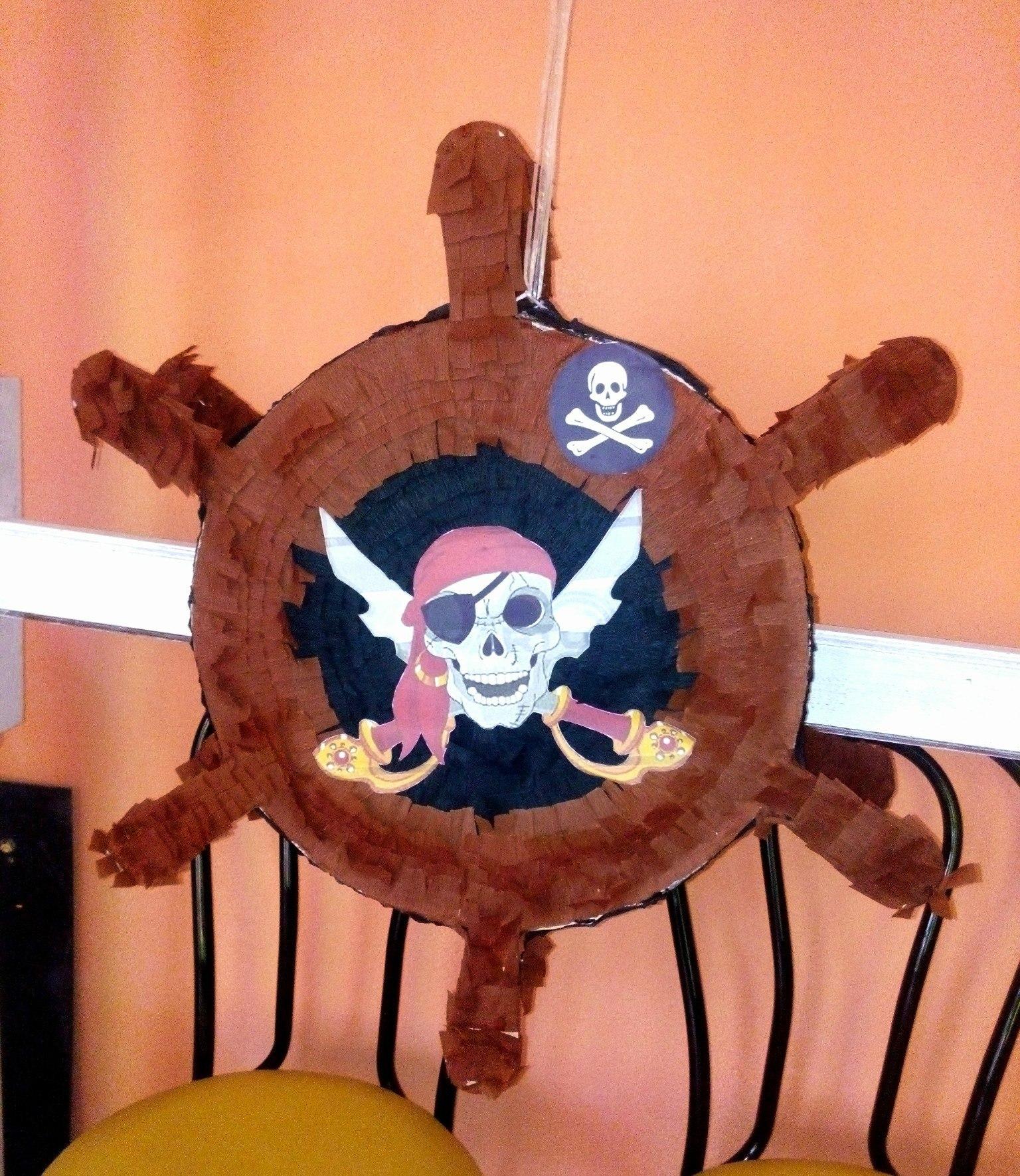 пиньята на праздник пиратская вечеринка штурвал купить в запорожье заказать