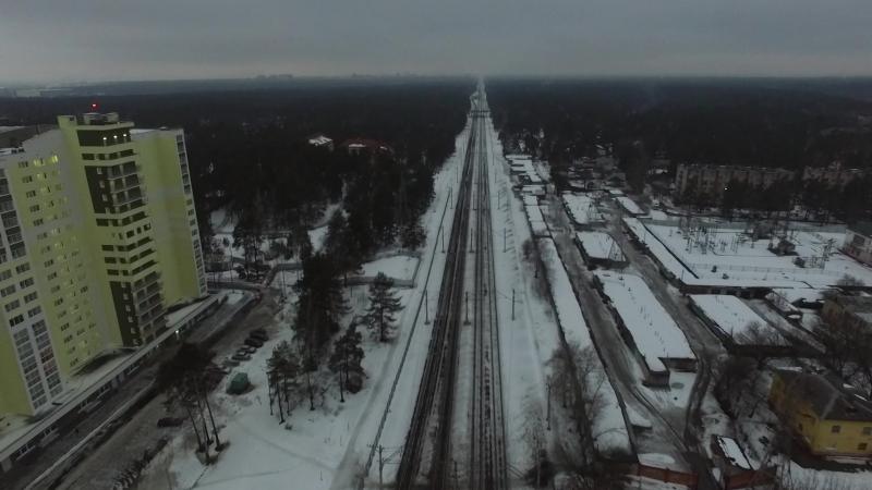 DJI Раменское Фабричное ЖД Зима 2016