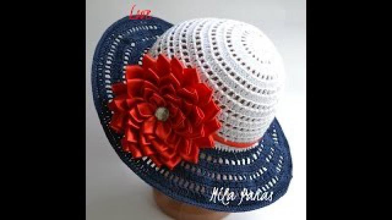 Вяжем летнюю шляпку для леди Морские грезы