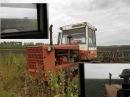 Гусеничный трактор Т 4А Культивация Вид из кабины