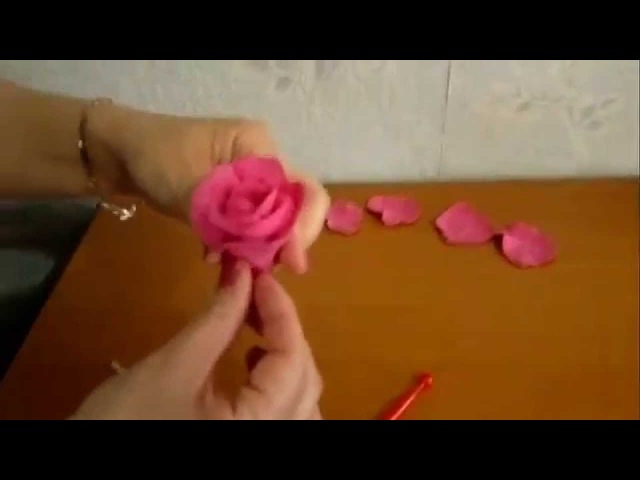 Роза из полимерной глины МК для начинающих