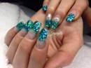 ♡ How to: Turquoise Glitter Gelnails