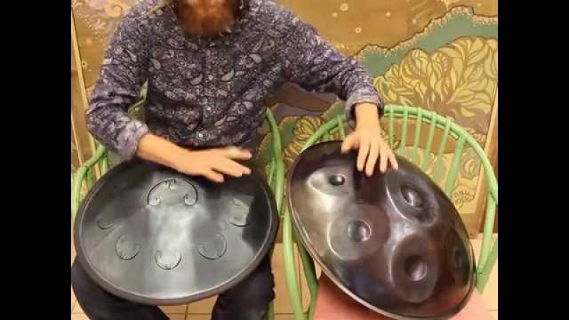 Pasha Aeon - New Rav Vast io Handpan improvisation 2016