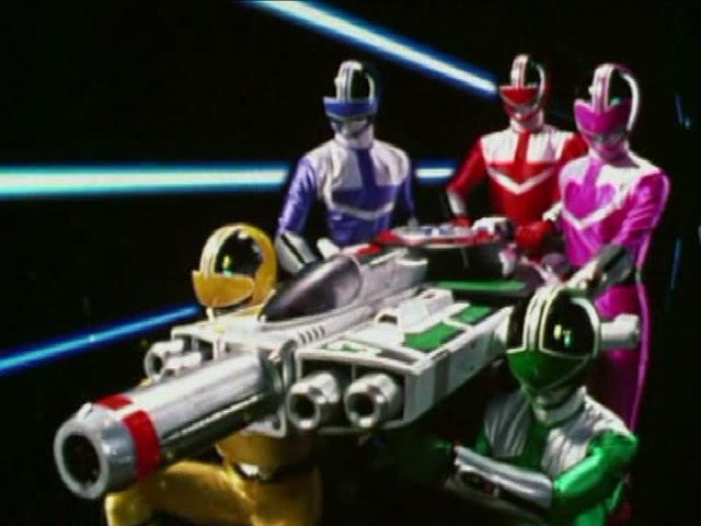 Power Rangers Time Force - All Weapons.