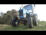 Замена передней покрышки на тракторе МТЗ-82.1. Minsk tractor MTZ-82.1