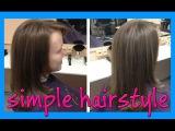 simple hairstyle for long hair (простая стрижка для длинных волос