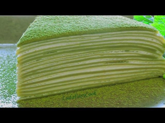 БЛИННЫЙ ТОРТ Сách Làm Bánh Crepe Trà xanh Ngàn lớp bánh kếp nghìn lớp Matcha Crepe mille cake