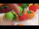 Вяжем капусту, яблоко и апельсин крючком.