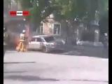 Горящая Волга сбежала от огнетушителей