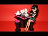 Как сделать кухонный стол и стул для куклы. How to make a kitchen table for doll.