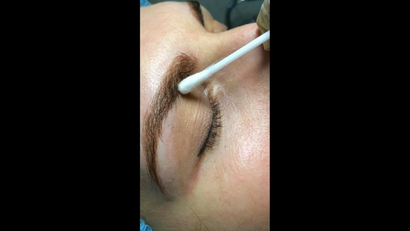 Микроблейдинг бровей = ручной волосковый 6D татуаж