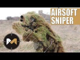 [Airsoft Sniper Gameplay] CYMA SVD-S, Scope Cam and Ghillie suit. Снайпер на страйкболе
