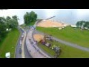Zarasai valčių lenktynės saloje iš drono