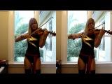 Lara plays The Avengers movie theme as Ms. Marvel )