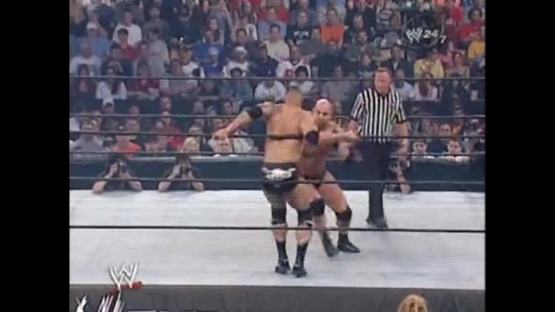 WWE Backlash 2003 - Goldberg vs The Rock