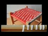 Плетеные стулья своими руками. Плетеный табурет