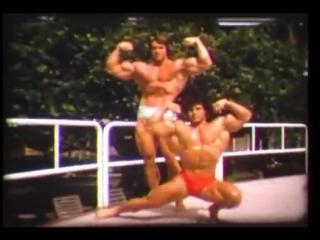 Архивное видео совместной тренировки Арнольда Шварценеггера и Франко Коломбо