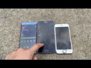 Samsung Galaxy Note 7 vs iPhone 6S vs Note 5 Drop Test! A Note 7 Unboxing and Durability Review!