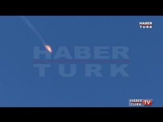 В Сирии, недалеко от турецкой границы разбился военный самолёт
