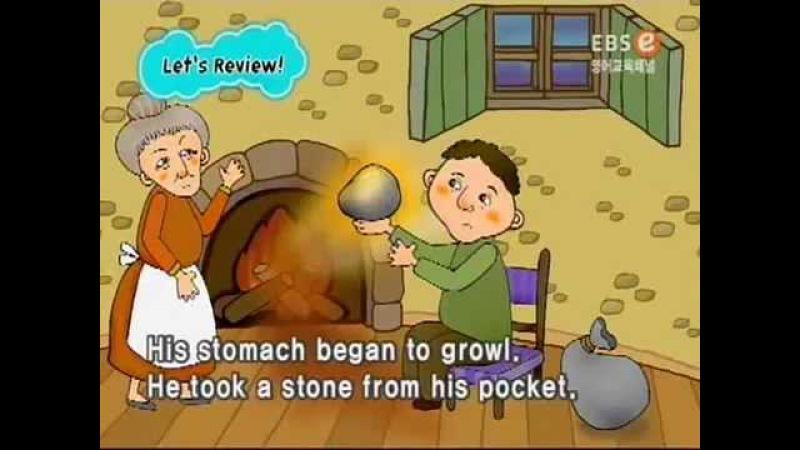 Суп из топора. Сказка на английском языке с субтитрами.