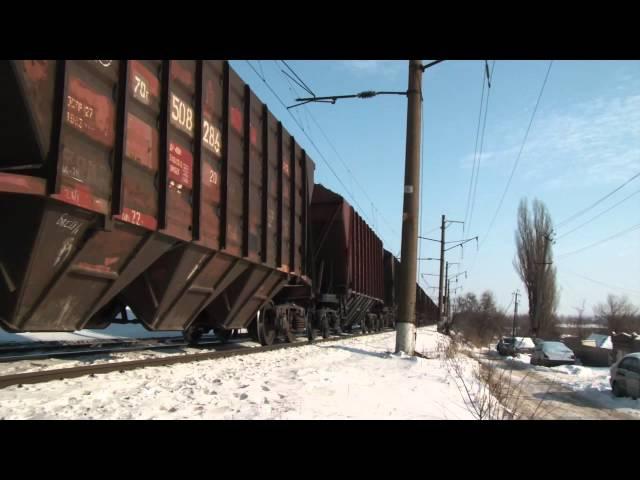 Соединённый грузовой поезд ВЛ80С-1891/1187 и ВЛ80К-743