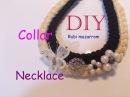Diy Collar trenzas de hilo decorado