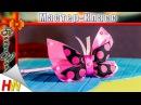 Бабочки из лент/Butterflies of the tapes/Mariposas de las cintas
