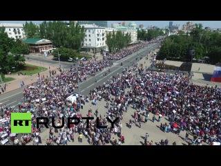 Около 30 тыс. человек протестуют против вооруженной миссии ОБСЕ в Донбассе
