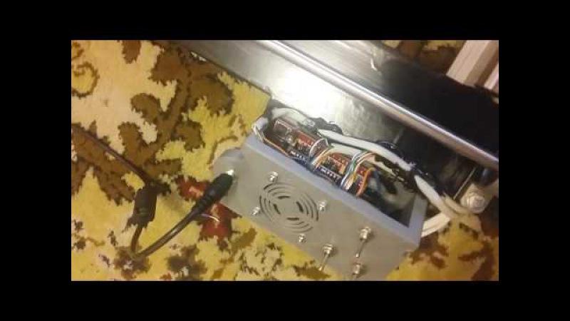 Закончил сборку лазерного ЧПУ выжегателя 1000х1000мм