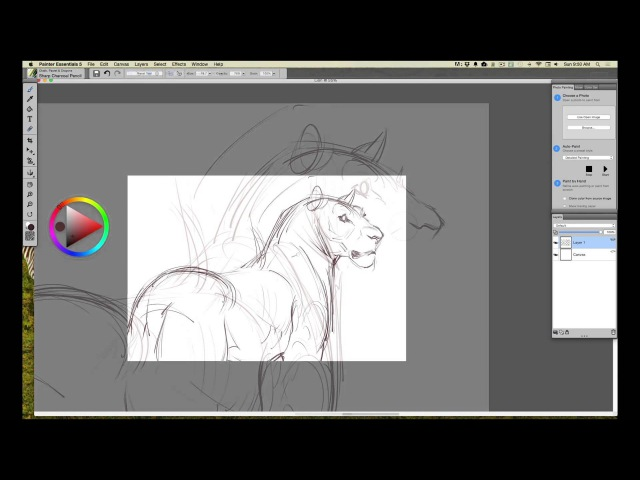 Wacom Intuos tutorial, Step 1: Concept Rough Drawing in Corel Painter Essentials with Aaron Blaise