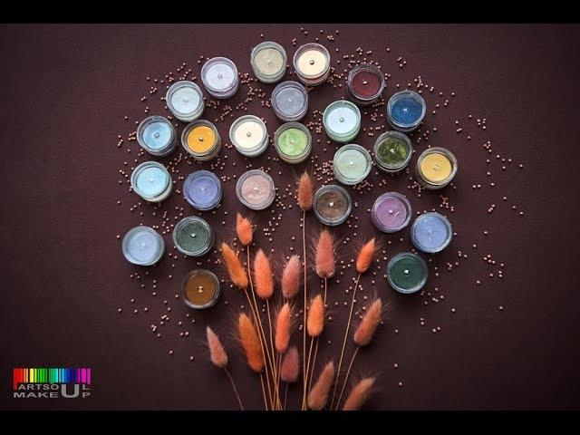 Минеральные тени Tammy Tanuka в оттенке Эльфийская принцесса Видео свотч от Artsoul Makeup