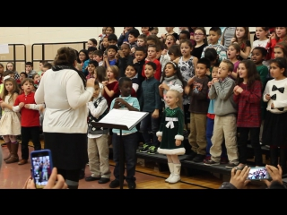 "James fitzgerald elemetary school's christmas concert - ""rocking old st.nickolas"" song"