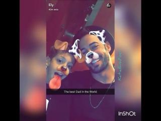 Momento fofura entre pai e filhos @willevy com @tophy_19 e #kailey família linda snapchat @gutierrezelizabeth_ #williamlevy #ely