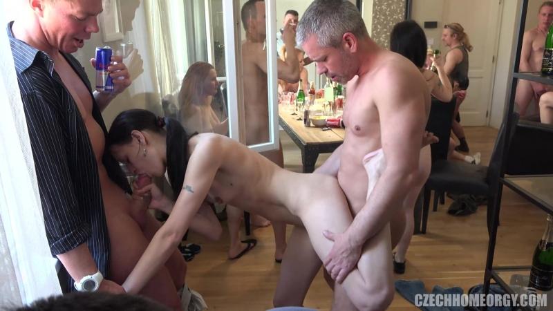 Czech Home Orgy 10 - Part 2 [Swingers Orgy Group Party Amateur sex porno 2016 HD]