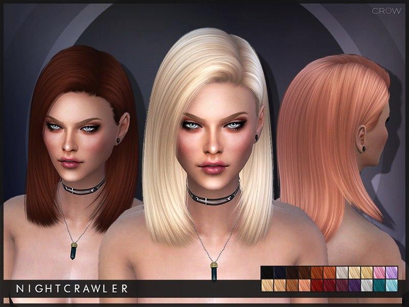 Прическа от Nightcrawler_Sims (24 расцветки)