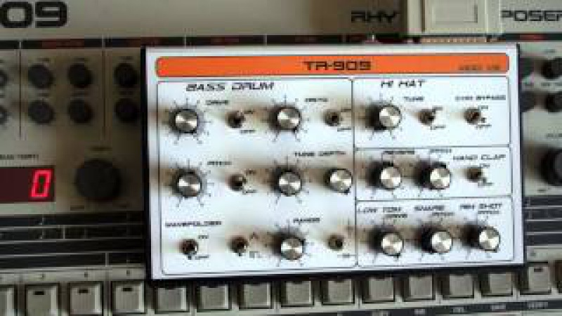 Dj Ké-seb Live Hardcore part 2 with TR 909 Roland ( TR 606 TR 808 TB 303 MC 505 ) DrumMachine .wmv