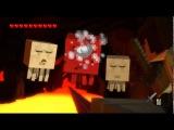 смотреть Minecraft Story Mode гонка на вагонетке