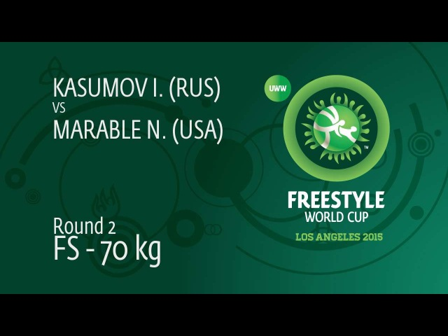 Round 2 FS - 70 kg: Israil KASUMOV (RUS) df. Nick MARABLE (USA), 8-6