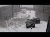 Нива джиппинг. Я-248 vs SilverStone по мокрому снегу
