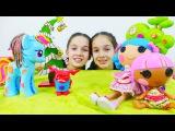 Видео с игрушками. Сестры и куколки Лалалупси выполняют Новогодний квест. Видео девочкам.