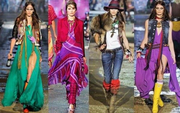 Отгремели показы и персоны, имеющие какое-либо отношение к моде, вынуждена признать, что фантазия дизайнеров неиссякаема. Каждая коллекция демонстрирует новые грани способные подчеркнуть и выразить стиль каждой модницы. Что именно дизайнеры хотят видеть на женщинах в 2016 году, попробую вам подробно рассказать. Казалось бы, творческий богемный стиль идеален для лета, но никак не подходит для серых осенних будней или суровой зимы. Но в этот раз кутюрье решили удивить и порадовать нас своими теплыми Бохо образами. В коллекциях вы встретите летящие материалы с мехами, велюром, замшей, с характерными узорами и замысловатым декором.  Бохо образ привлекает внимание и в будни, и в вечернем свете. Anna Sui предлагает образы, полностью выдержаны в Бохо стилистике. Chloé менее категоричные, и предлагают миксировать Бохо стиль с другими более лаконичными стилями.  Расскажу вам о самых интересных, на мой взгляд, коллекциях мировых кутюрье, которые только радуют глаз любительниц богемного стиля. Итак, приступим