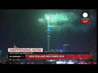 Новогодний салют в Окленде 2016 ( Новая Зеландия)