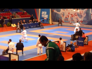 Karate 1 Paris 2016 kata male, JPN vs TUR, ESP vs VEN