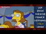 Как звучат Симпсоны на разных языках