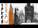 How to draw architecture | Rysunek architektoniczny - Charles Bridge Speed Drawing